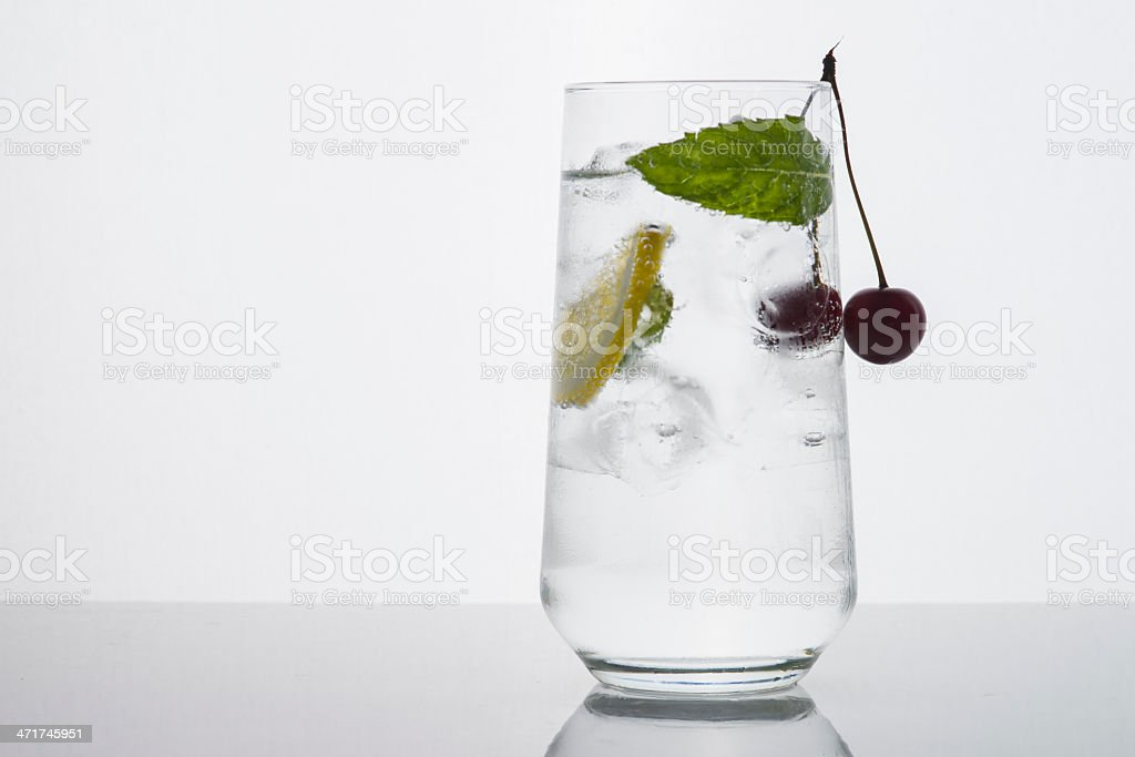 Cool Clear Drink on White royalty-free stock photo