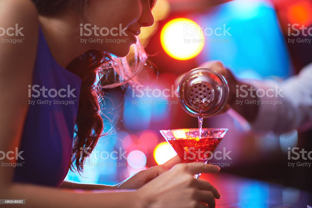 Cool cocktail stock photo