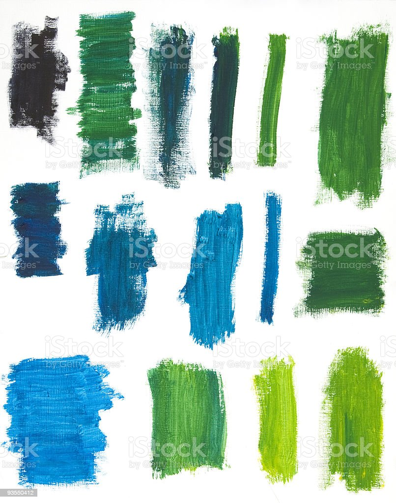 Cool Color Paint Dabs stock photo