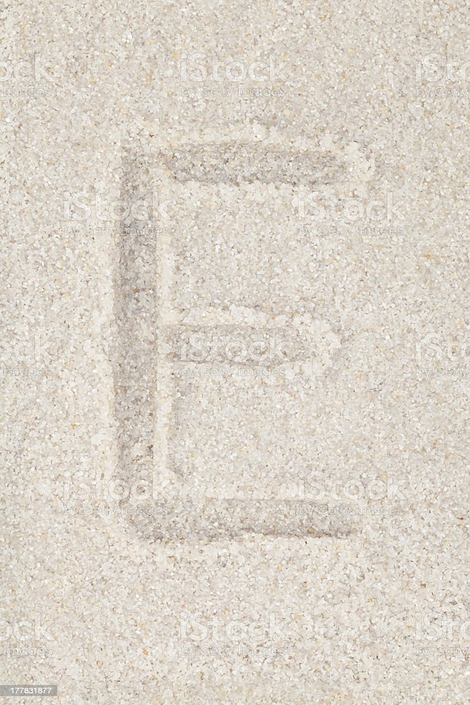 Cool concepts and ideas - Letters on sand royalty-free stock photo