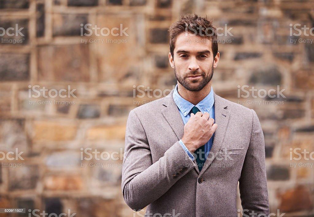 Cool confidence stock photo