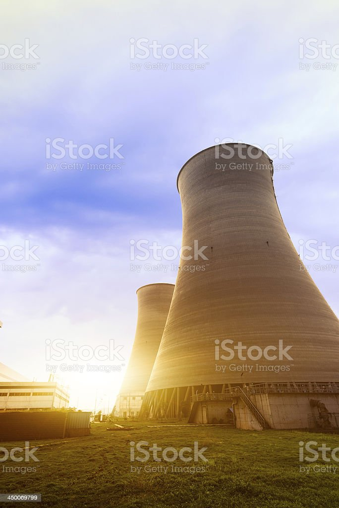 Cool Cooling Towers stock photo