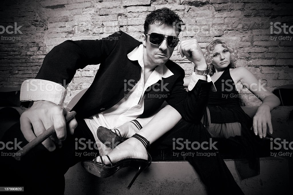 cool couple royalty-free stock photo