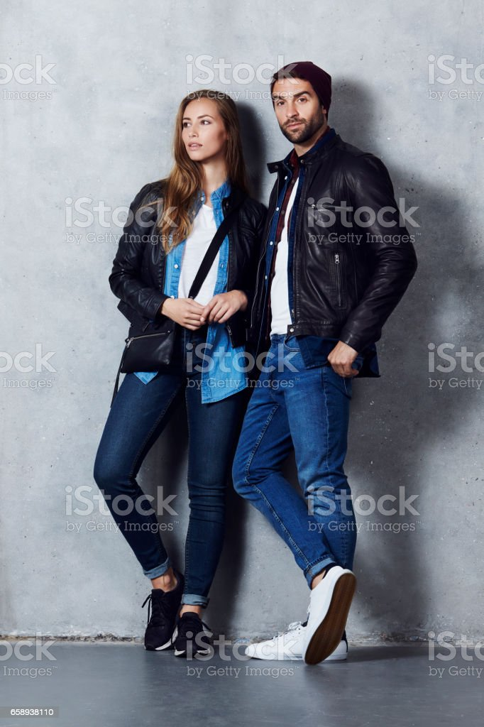 Cool couple stock photo