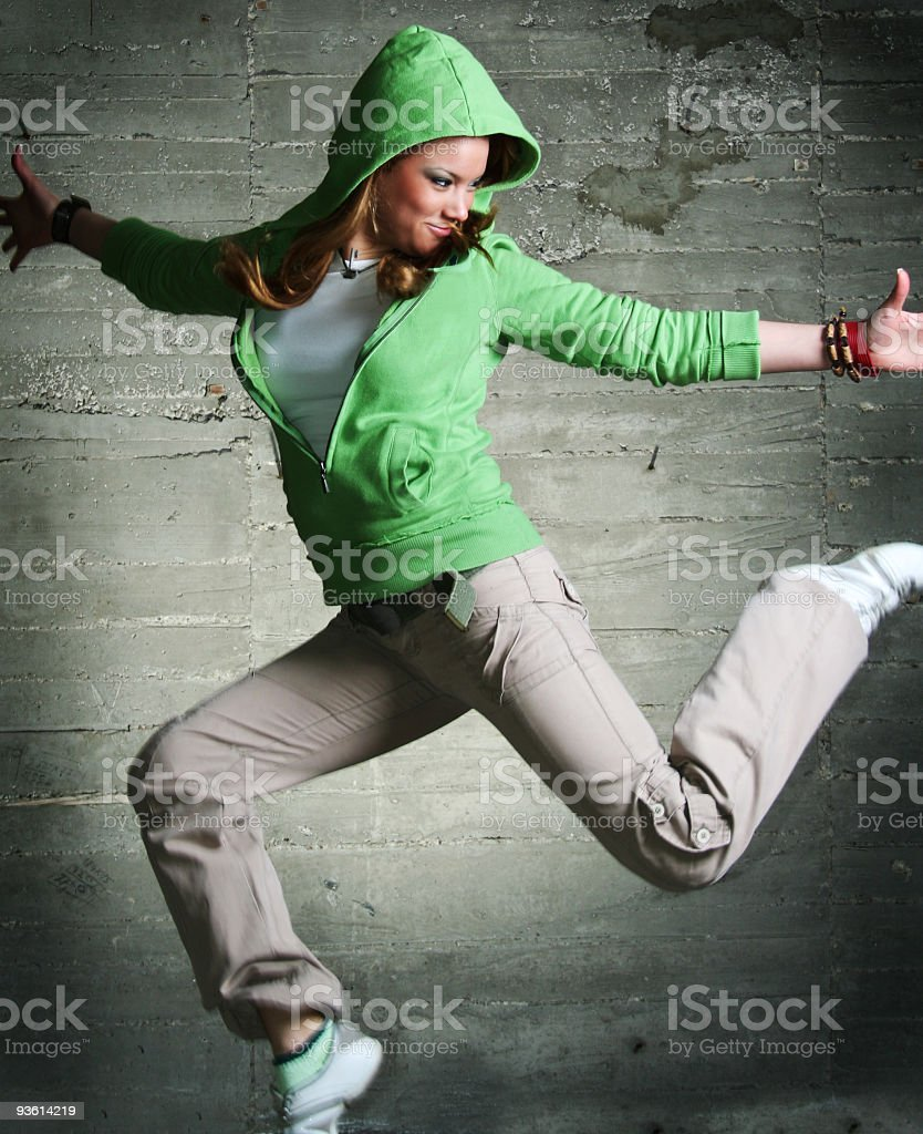 Cool dancing girl royalty-free stock photo
