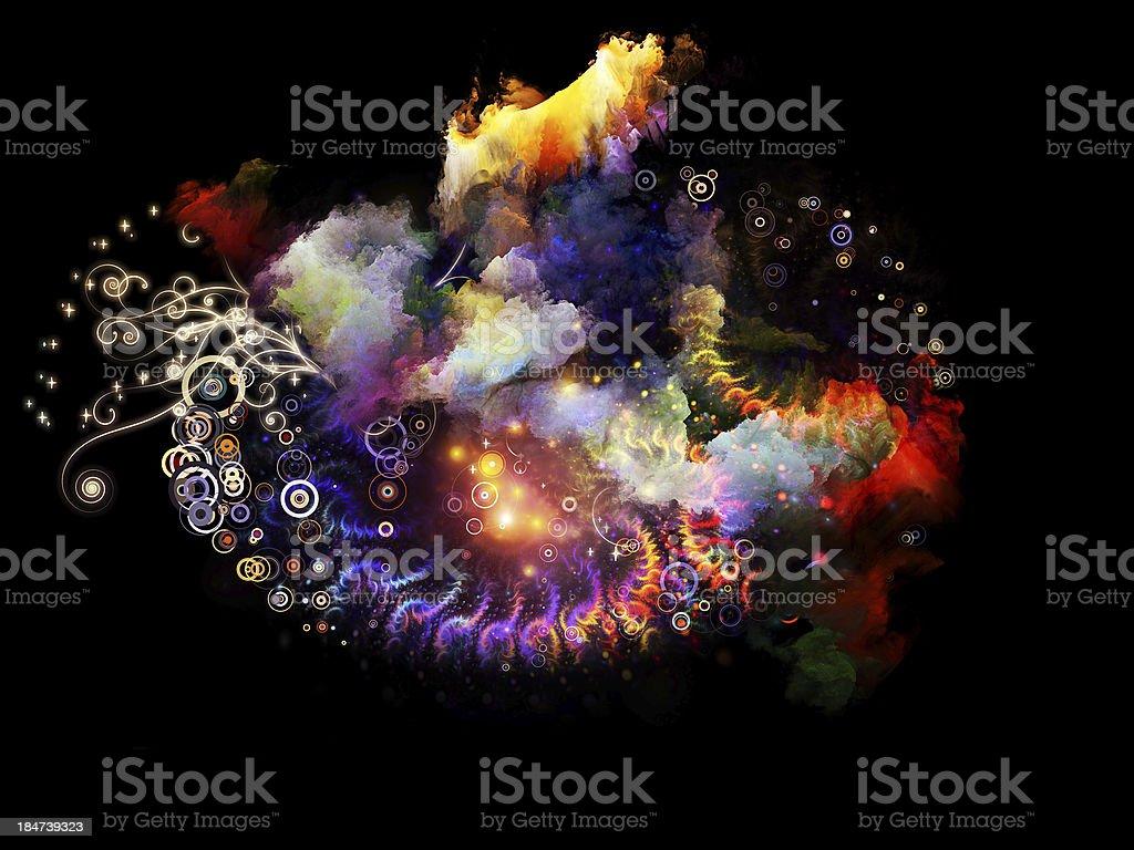 Cool Design Nebulae royalty-free stock photo