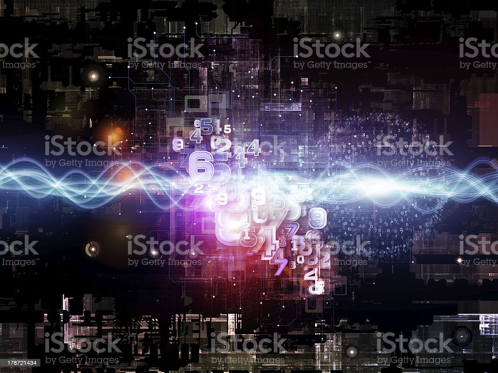 Cool Digital Network royalty-free stock photo
