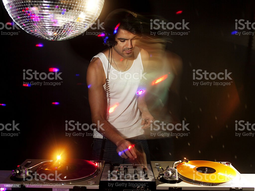 cool dj royalty-free stock photo