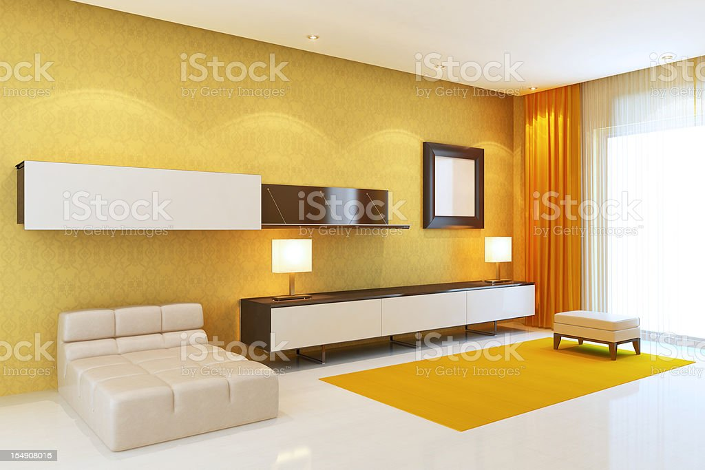 Cool Drawing Room royalty-free stock photo