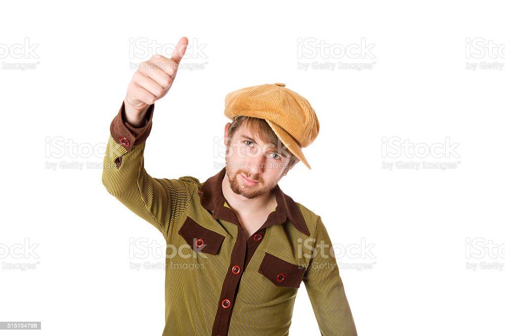 Cool Dude Thumbs UP stock photo