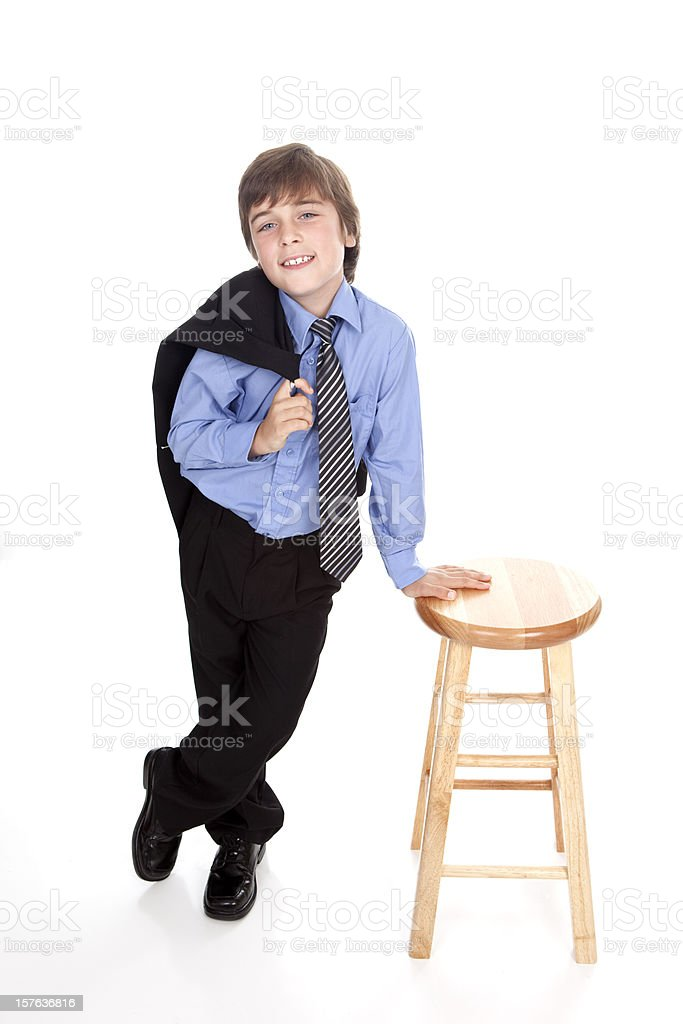 Cool Dude With Suit Jacket Over Shoulder stock photo