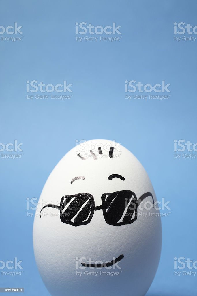 Cool Egg royalty-free stock photo