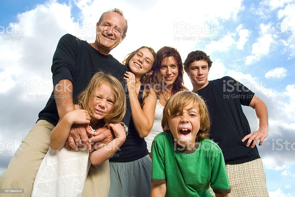 Cool Family stock photo