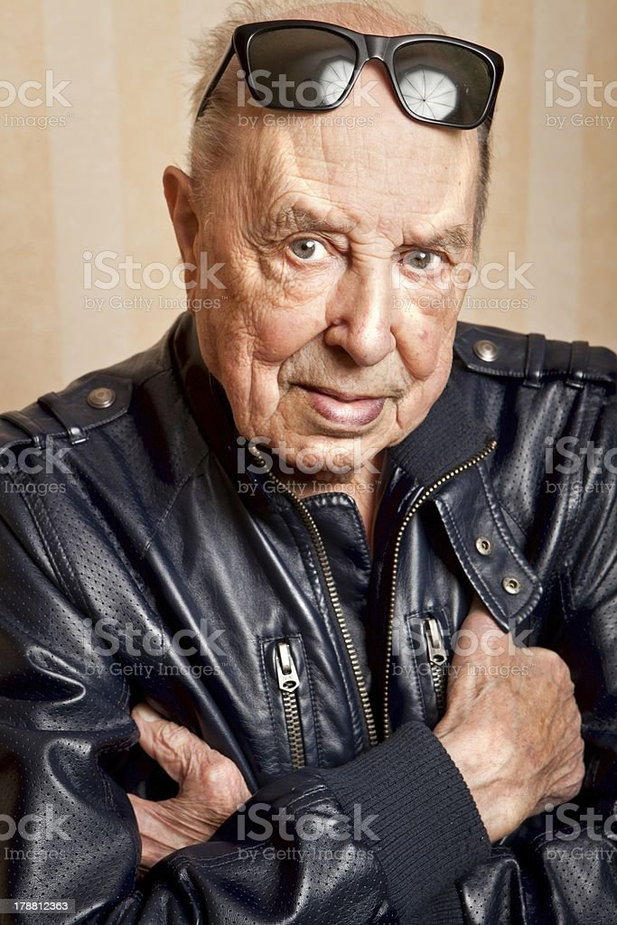 cool fashion elder man with sunglasses royalty-free stock photo
