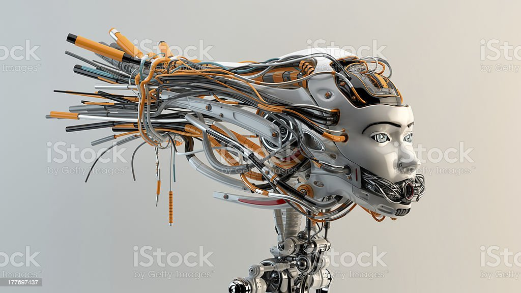 Cool futuristic robotic girl royalty-free stock photo