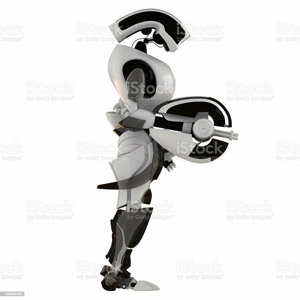 Cool futuristic warrior royalty-free stock photo
