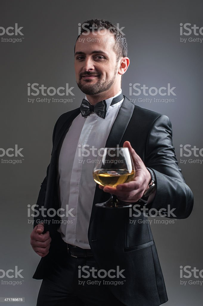Cool gangster royalty-free stock photo