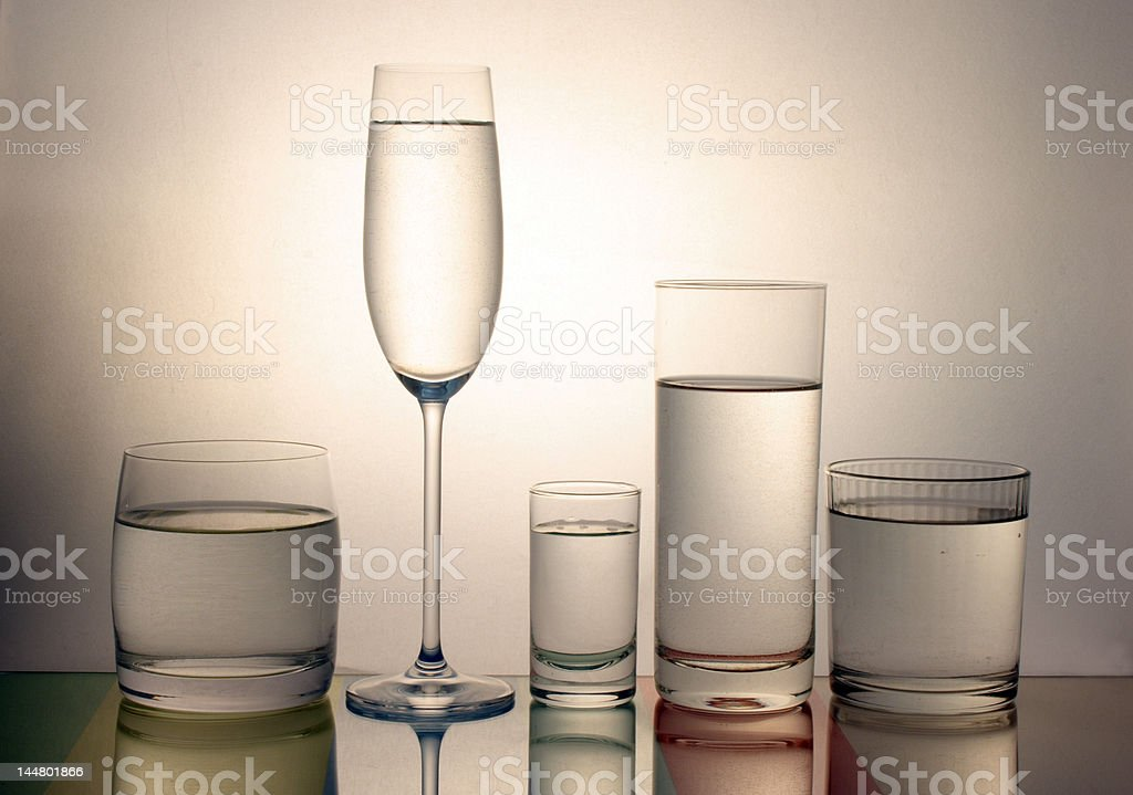 cool glass of water stock photo