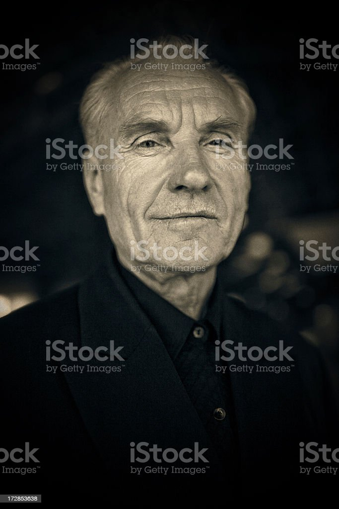 cool grandfather stock photo