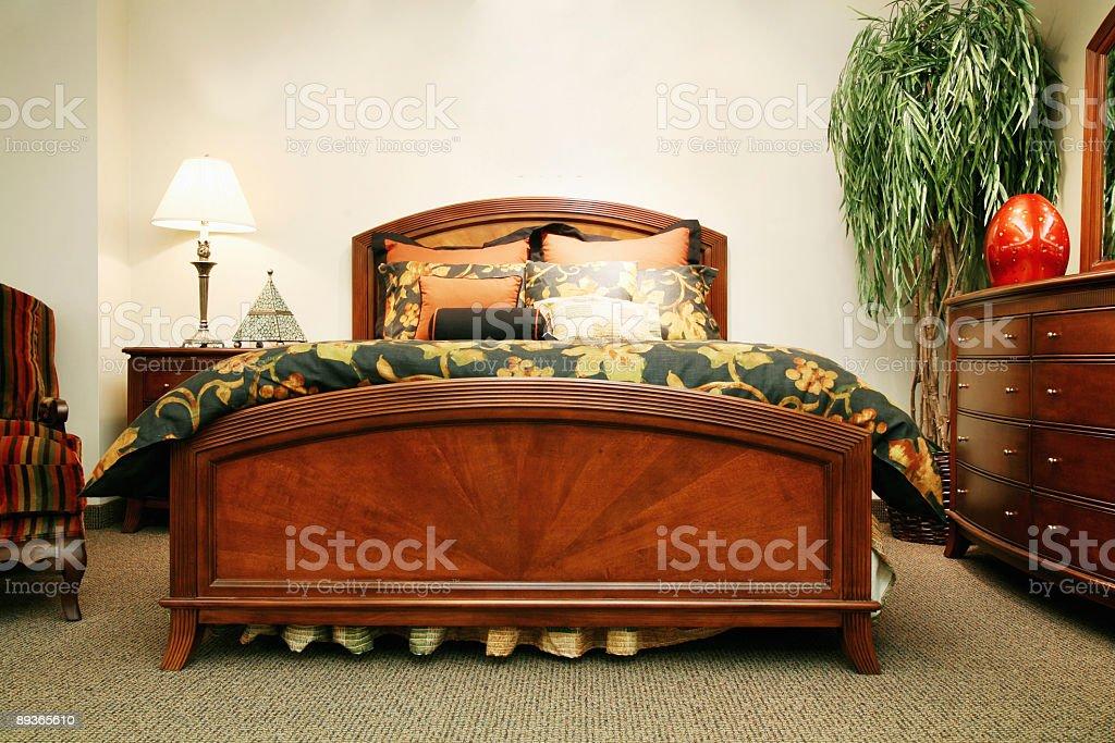 Cool grey bedroom stock photo