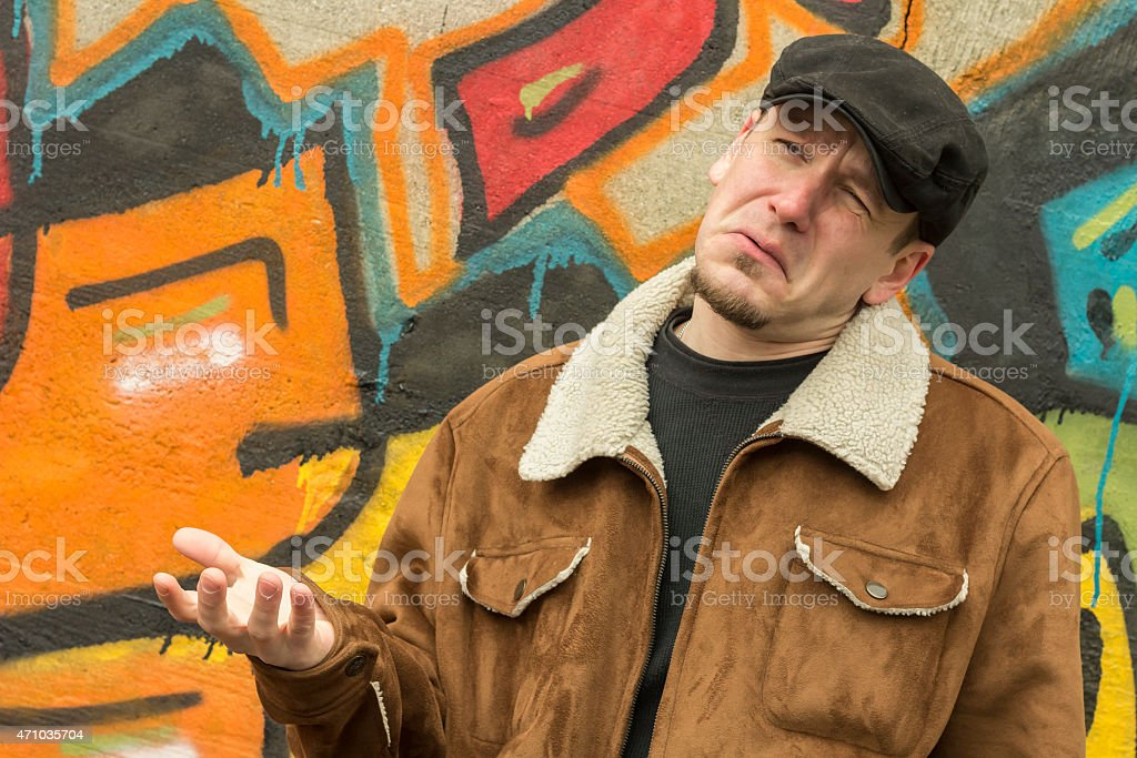 Cool Guy Graffiti stock photo