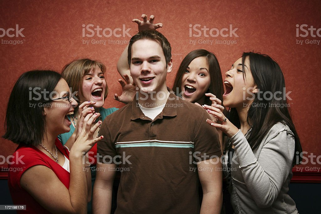 Cool guy stock photo