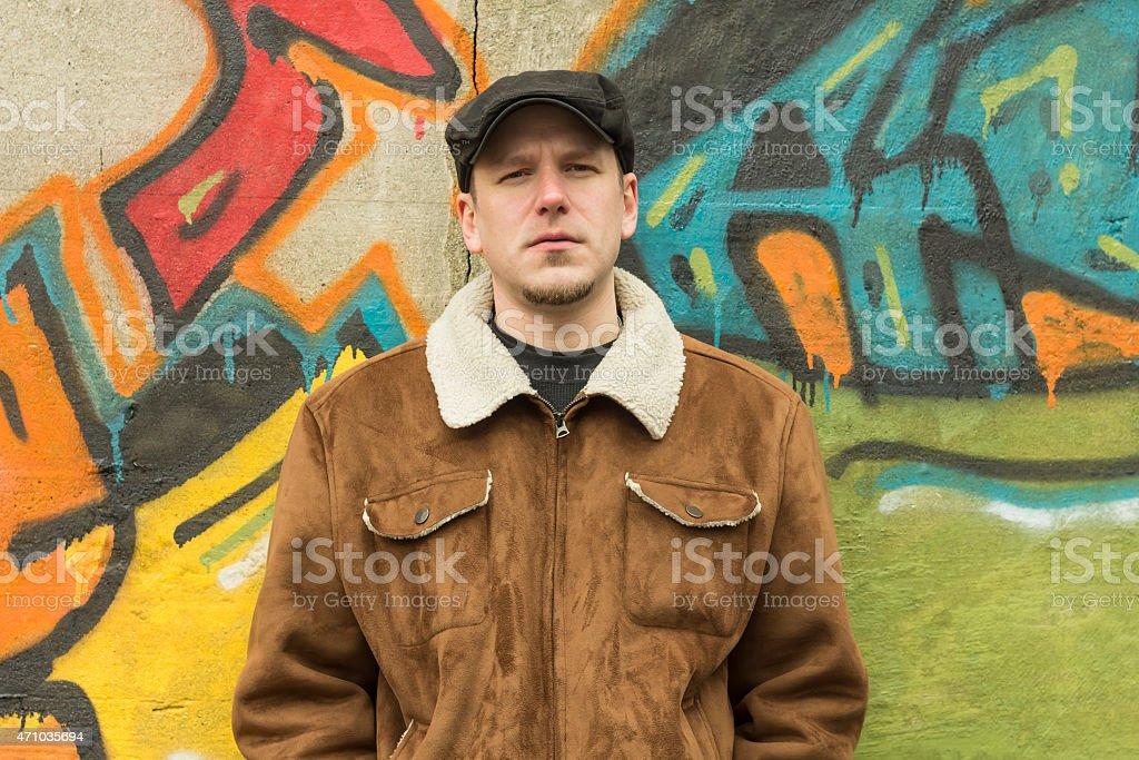 Cool Guy Sad stock photo