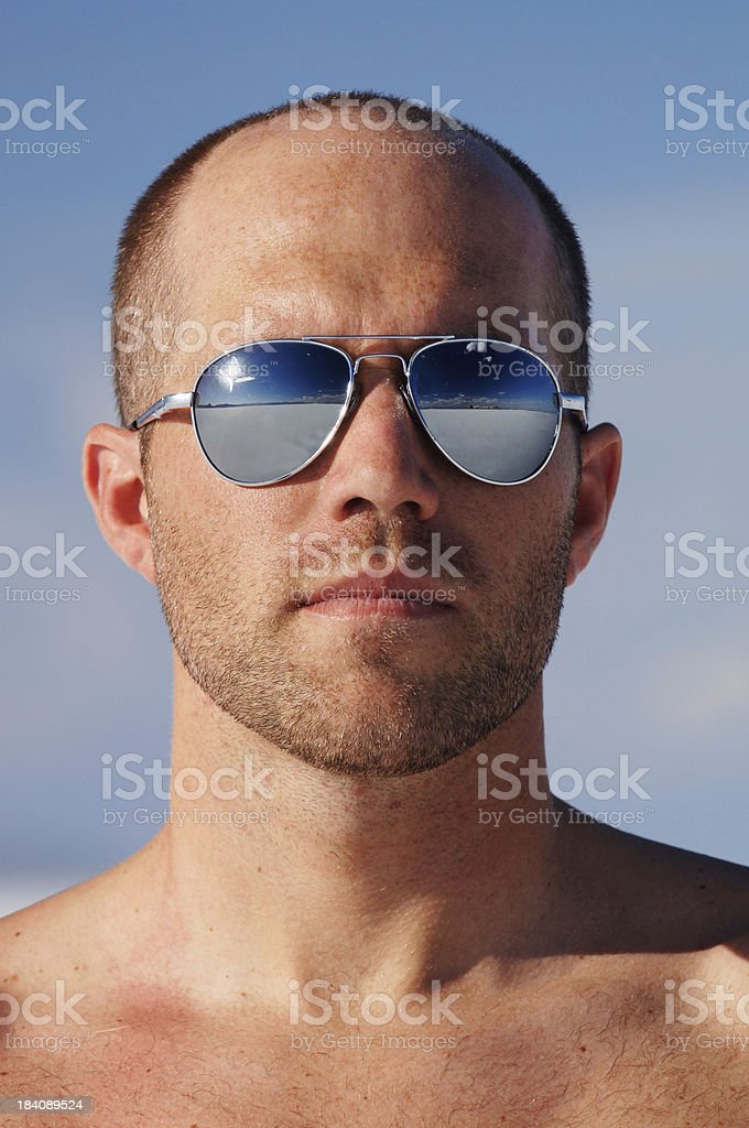 Cool guy with shades stock photo