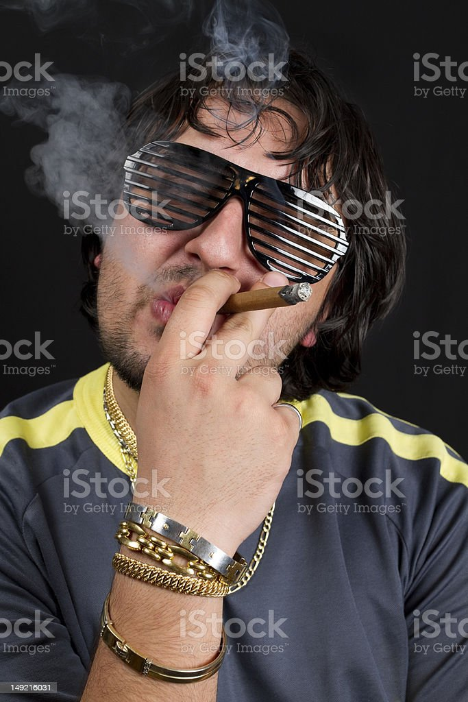 Cool Gypsy Smoke Cigarette royalty-free stock photo