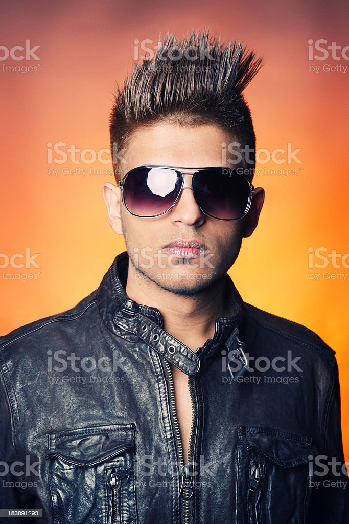 Cool hair portraits royalty-free stock photo