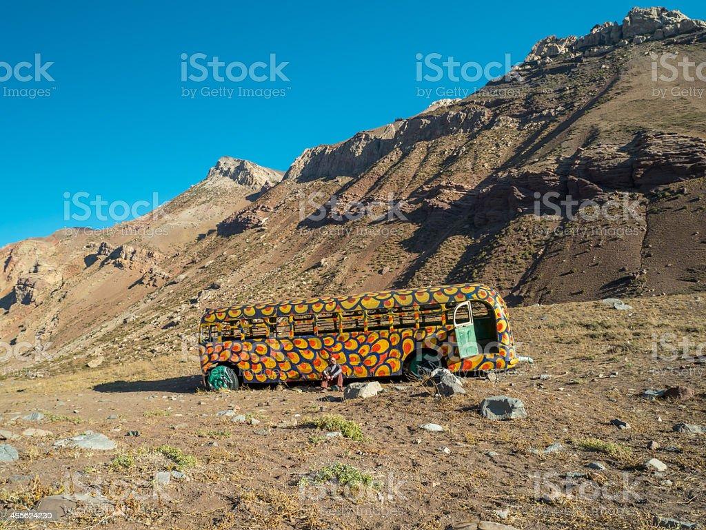 Cool Hippi Bus royalty-free stock photo