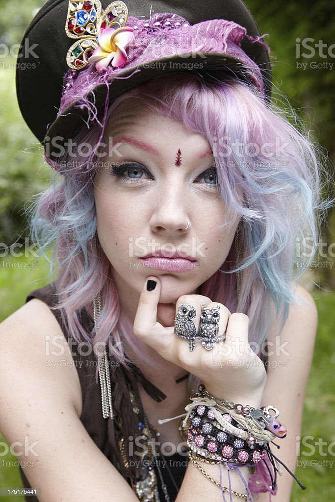 Cool Hippy Chick royalty-free stock photo
