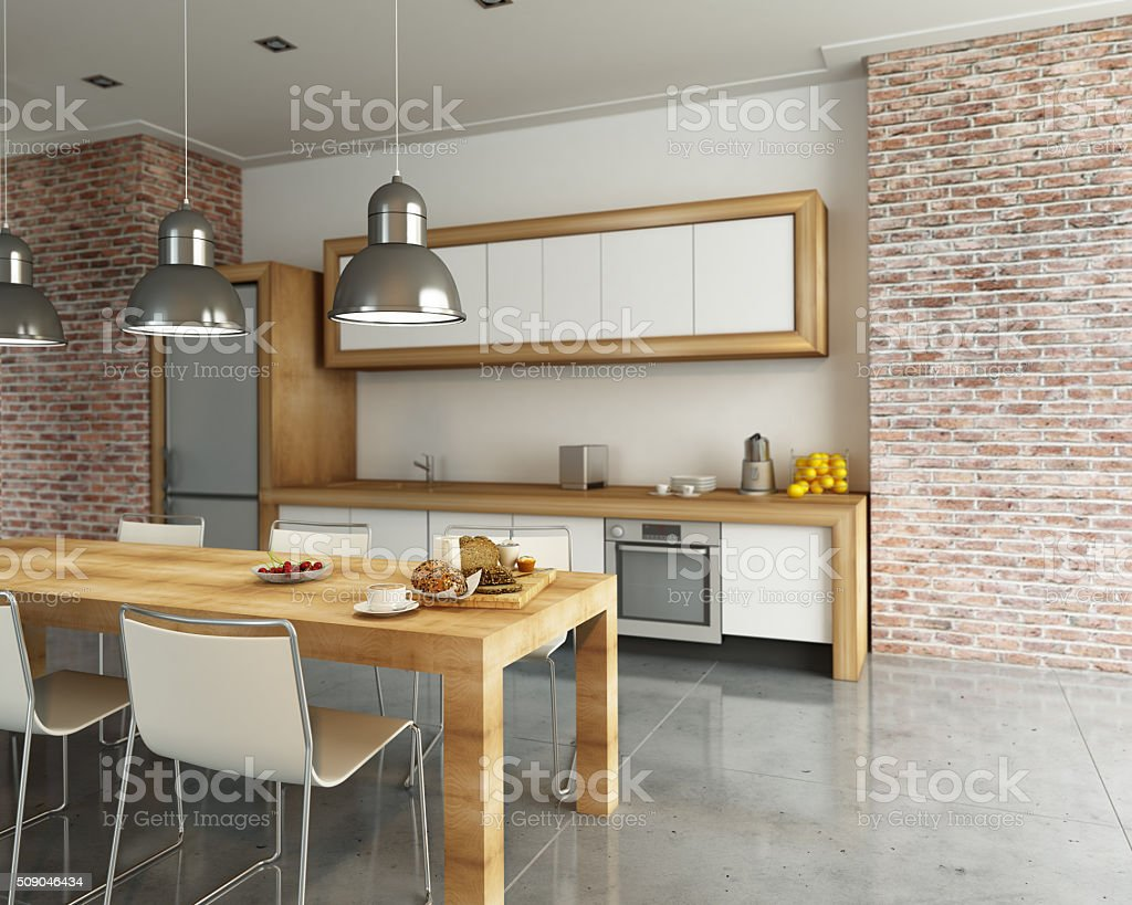 Cool kitchen stock photo