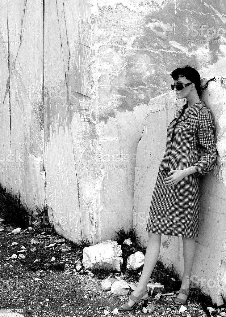 Cool Lady. stock photo