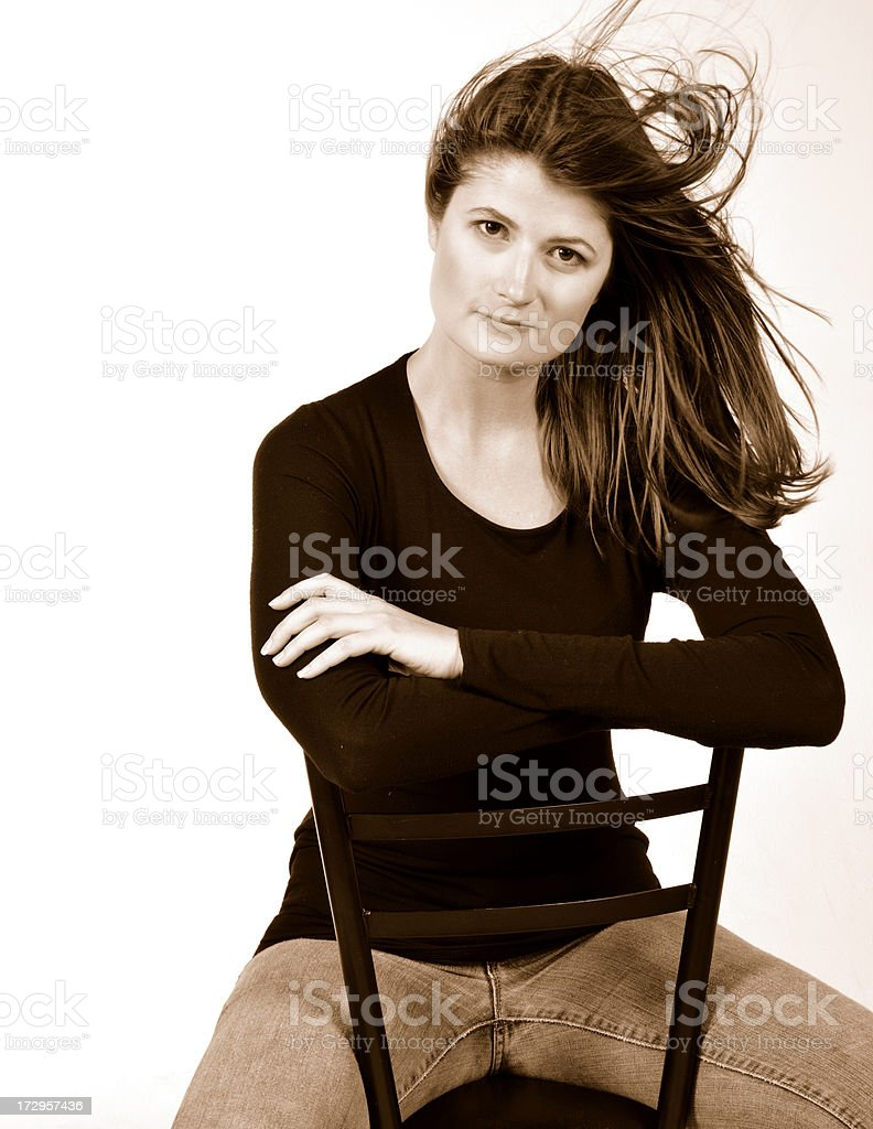 Cool Lady stock photo