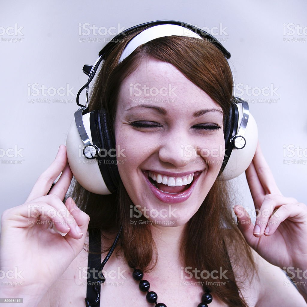 Cool Listener stock photo