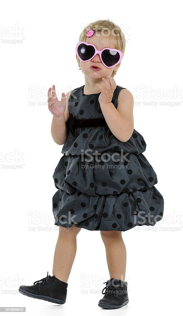 cool little girl royalty-free stock photo