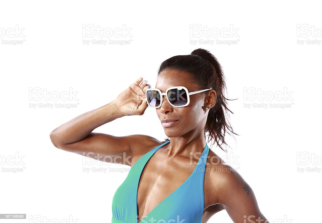 cool looking female royalty-free stock photo