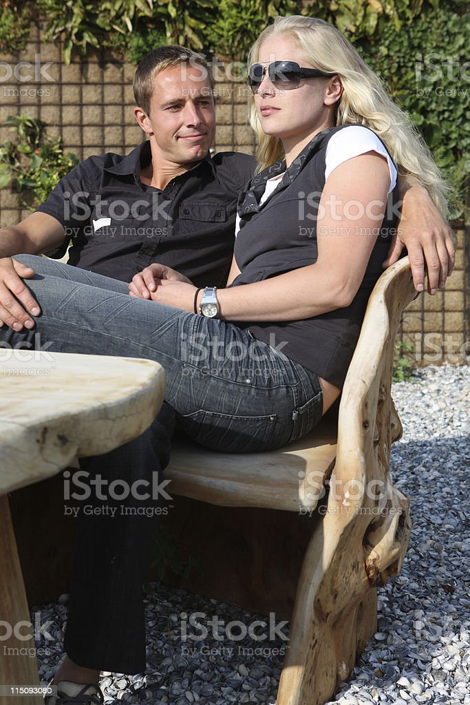 Cool Loving Young Couple Outdoors royalty-free stock photo