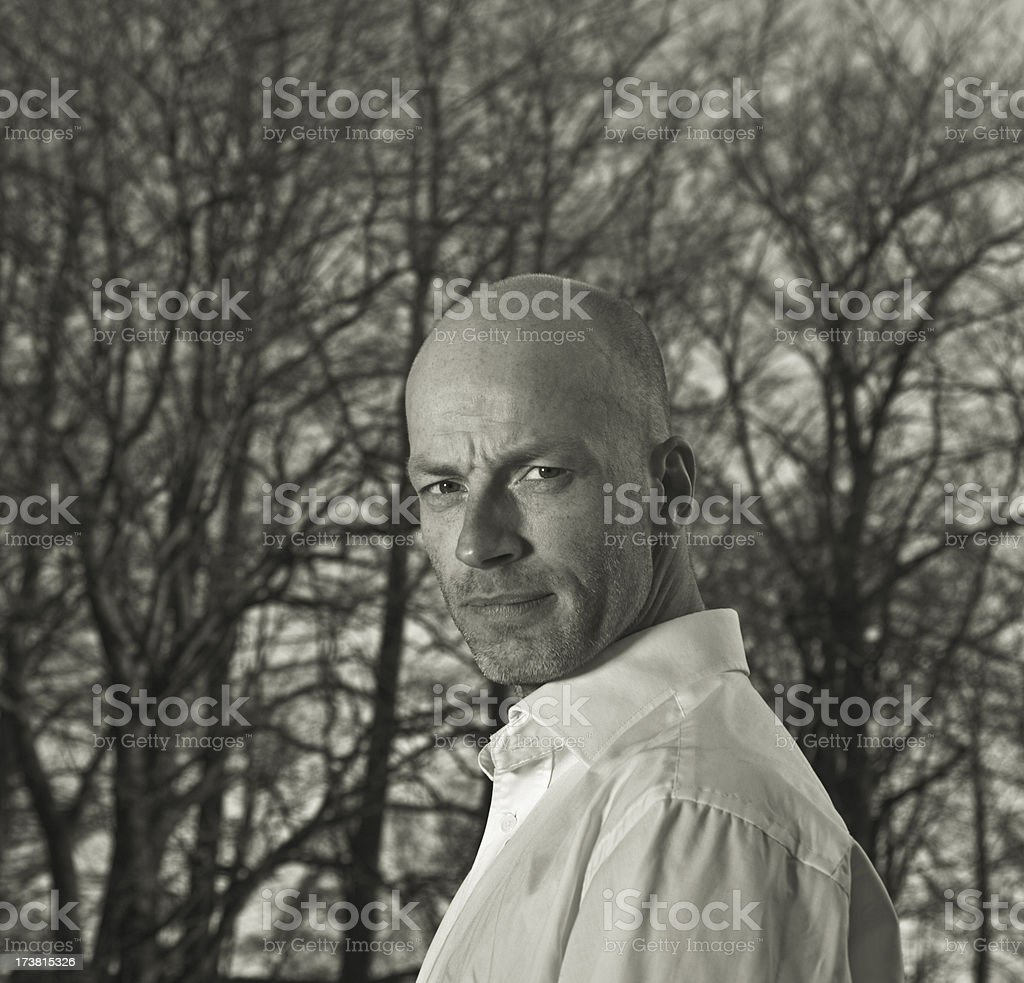cool man looking royalty-free stock photo