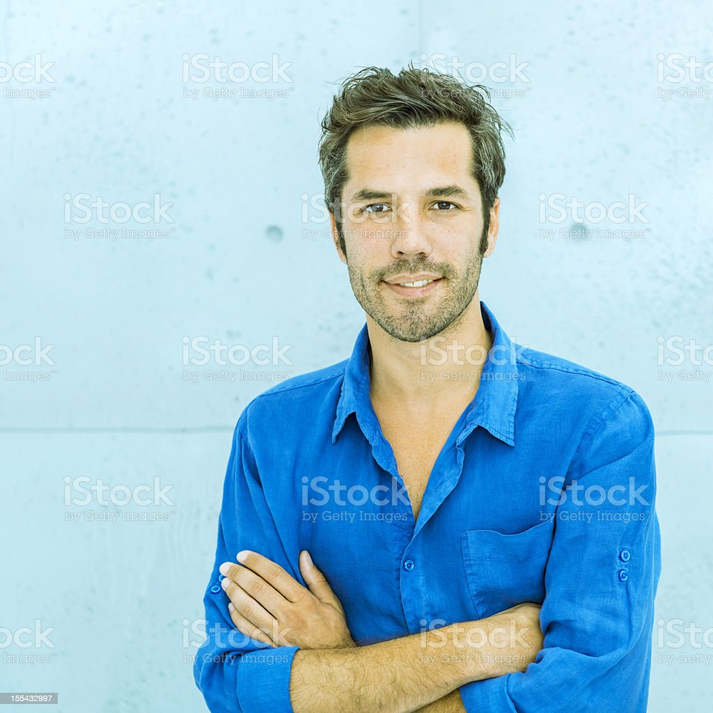 Cool middle aged man stock photo