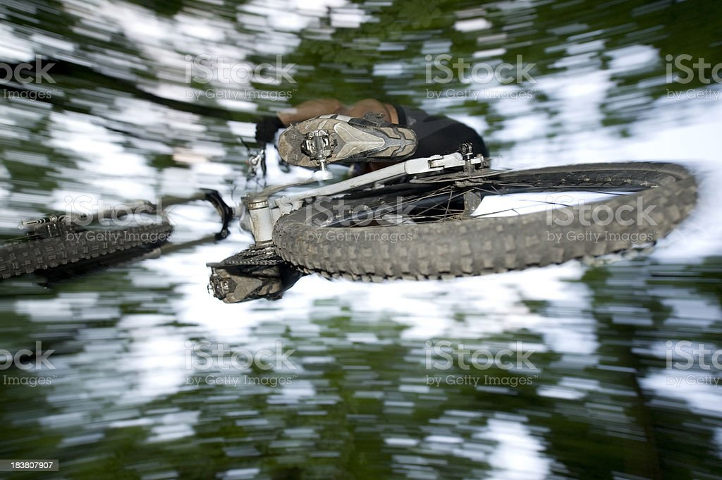 cool mountain bike jump royalty-free stock photo