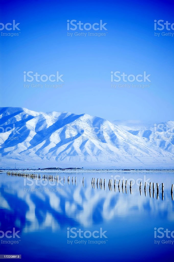 Cool Mountain Blue royalty-free stock photo