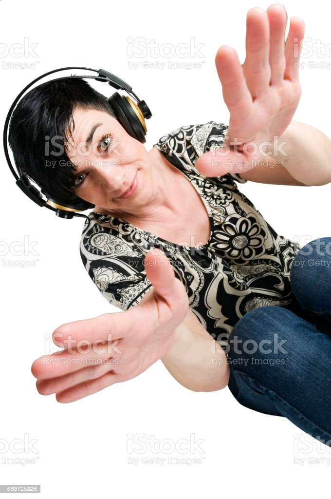 cool music on the couch stock photo