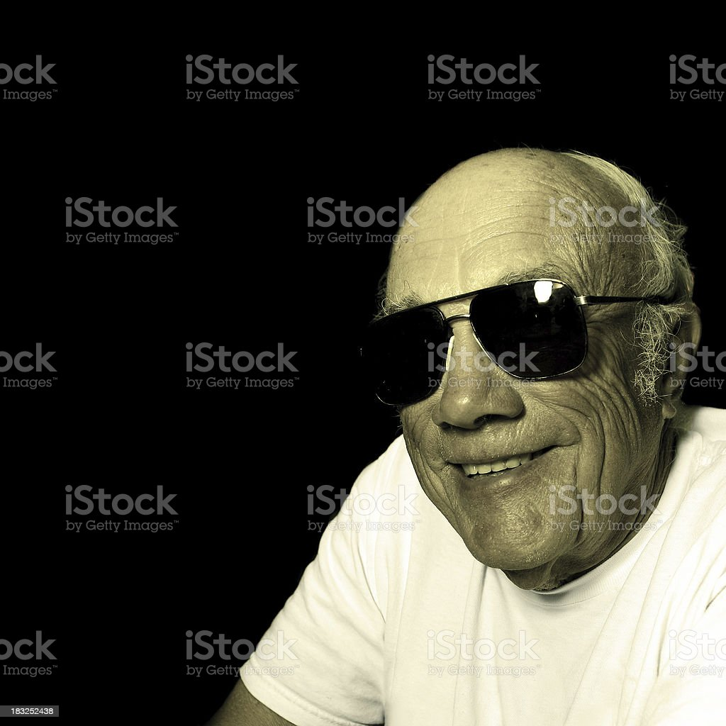 Cool Old Man stock photo