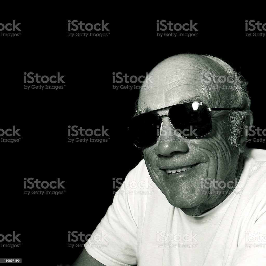 Cool Old Man royalty-free stock photo