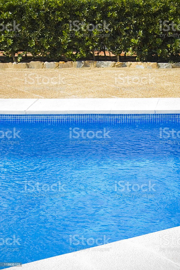 Cool pool blue royalty-free stock photo