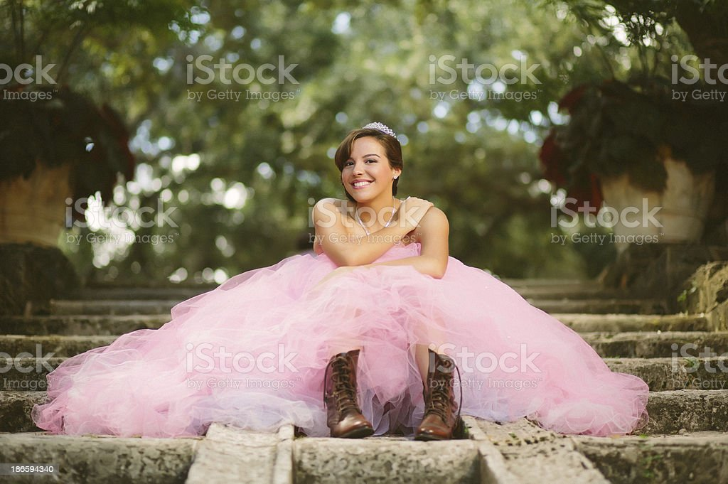 cool quinceanera royalty-free stock photo