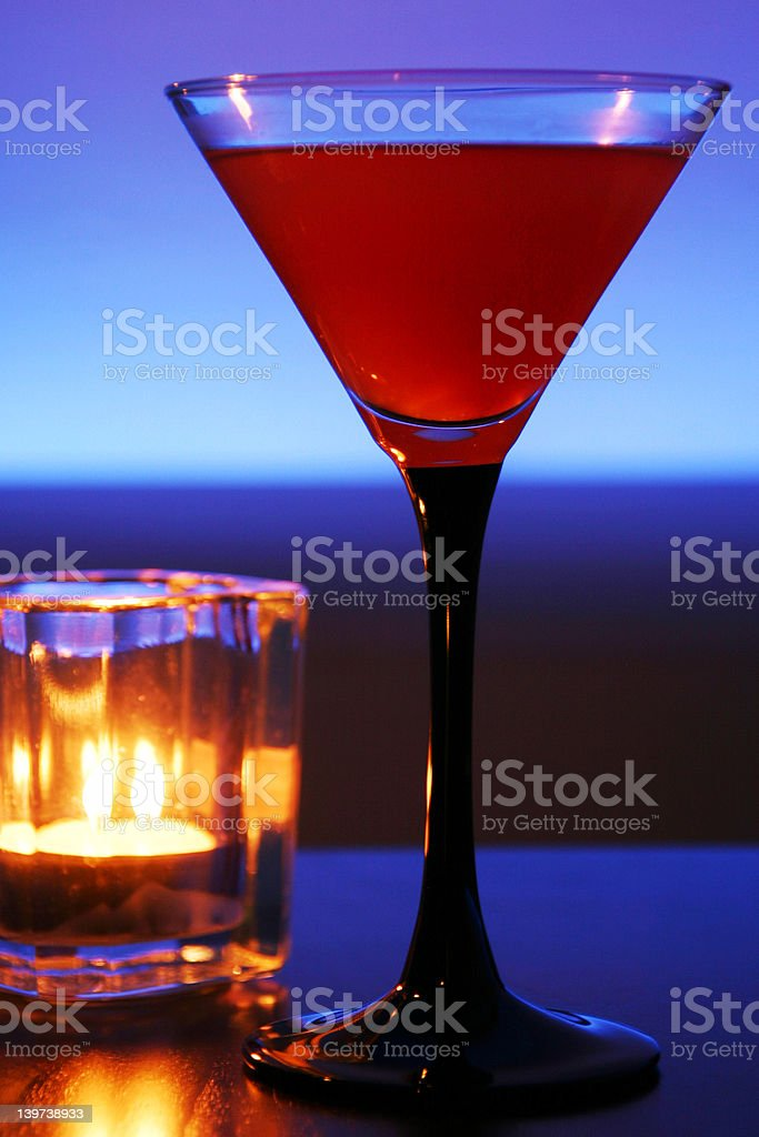 Cool Red Cocktail royalty-free stock photo