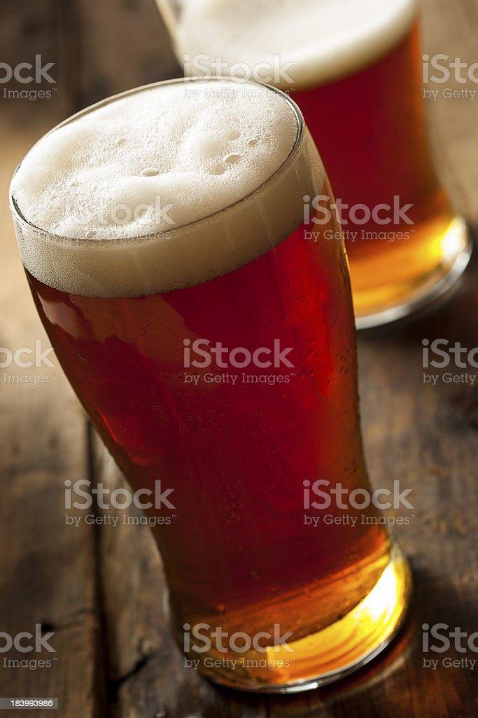 Cool Refreshing Dark Amber Beer royalty-free stock photo